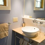photo of hillview blue bathroom